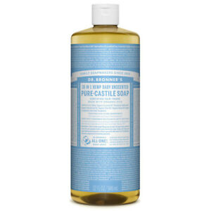 NEW Dr. Bronner's Hemp Pure-Castile Soap Liquid Baby Unscented 946mL Dr Bronners