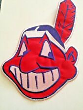 "Cleveland Indians Wahoo MLB Jersey Patch  9 3/4""  Iron On Sew Bag Hoodie Jacket"