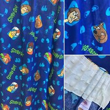 Vintage 1990s Scooby Doo Curtians 100% Cotton Blue