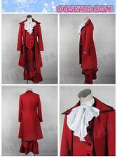 Black Butler Kuroshitsuji Red Madam Cosplay Fancy Dress Costume Custom-Free ship