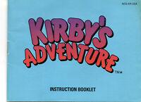 Kirby's Adventure (Nintendo Entertainment System) NES Manual Instruction Booklet