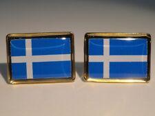 Shetland Island Flag Cufflinks--British Shetlander UK United Kingdom Scottish