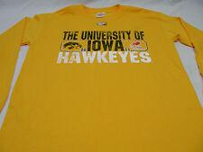 IOWA HAWKEYES - DISTRESSED STYLE - MEDIUM SIZE - LONG SLEEVE T SHIRT!