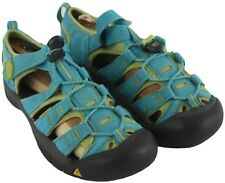 Keen Youth Boys Girls Unisex Blue Green Sandals Waterproof Hiking Shoes Size 3