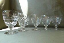 5 Stuart Crystal Imperial Cut Big Water Glasses, Signed, h12,4cm