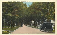 Whitehall Ny~William Street South~Closeup Antique Car~Tree Lined Residences 1910