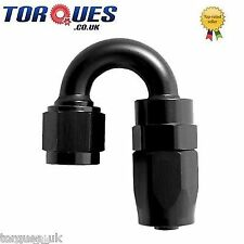 AN -20 (AN20 AN 20) 180 Degree Fast Flow Hose Fitting In Stealth Black