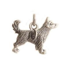 Sterling Silver 3D Siberian Husky Dog Charm Pendant