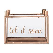Windlicht Kerzenhalter Bloomingville kupferfinish Let it snow Weihnachten Advent