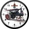 JI Case Clock Steam Engine Farm Tractor Wall Hanging Round Black House Clocks