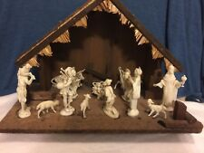 Fontanini Nativity Set with Wood Stable 13 Pcs 3.5Depose Figures - Made in Italy