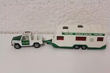 SIKU MB Mercedes Benz 280GE Polizei + Wohnwagen Anhänger 1:43
