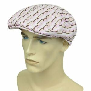 Playboy Bunny Cabbie Fitted S/M Gatsby Newsboy Flat Pink Hat Cap Ivy Driver