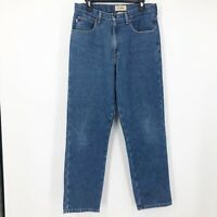 LL Bean Mens Blue Classic Fit Fully Lined Straight Leg Denim Jeans Size 32X30