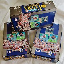 3 Box LOT 1991 Ultra Baseball Karros ROOKIE ? Griffey ? Ripken Ryan Brett HOF ??