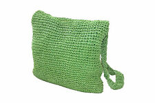 Crochet Summer/Beach/Shoulder Bag (GREEN) PERFECT FOR THE HOLIDAYS! PS5216