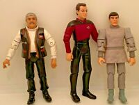 Vintage Star Trek Action Figures Spock, Scotty 1990's Lot of 3