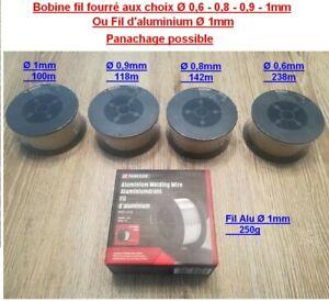 PARKSIDE® Fil fourré MIG MAG bobines Ø 0,6 mm 0,8mm 0,9mm 1mm ou fil aluminium 1