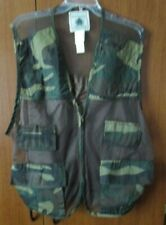 Northwest Territory Camouflage Hunting Vest Sz XL Poly Cotton Nylon Bust 50 in