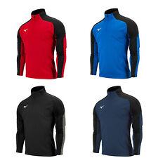 Mizuno Knit Track Half-Zip Up Training Shirts Men's Long Sleeve Shirts Athletic