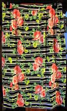 EYE CANDY MISSY PLUS WOMANS 2X SHORT SKIRT-BLACK/ORANGE FLORAL/STRIPE NWT
