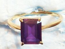 "RING GOLD 14K KIMR KIMRI 3.3 GRAMS SIZE 9 ½ STONE PURPLE 3/8"" = 9.5mm x 5/16 8mm"