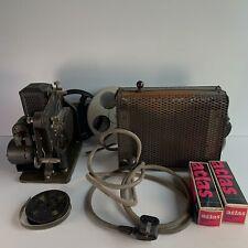Vintage Kodascope Model D 16mm Film Projector In Original Case Untested