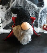 Handmade Halloween Sock Gnome Vampire With Cape