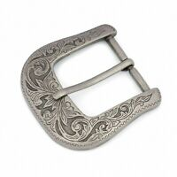 Western belt buckle Antique silver Cowboy Rancho Heavy Metal