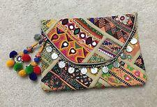 NWT Tylie Malibu Embellished Clutch Bag Antik Batik Star Mela