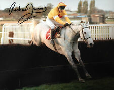 RICHARD DUNWOODY LEGGENDARIO JOCKEY ONE MAN AUTOGRAFATO COLORE ACTION FOTOGRAFIA