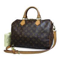 Louis Vuitton Speedy Bandouliere 30 Shoulder Bag M41112 Authentic Leather LV