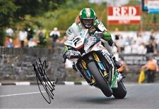 James Hillier SIGNED 12x8  Kawasaki Ninja H2R   Isle of Man  Senior TT 2015