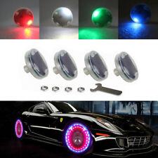 4× Car Auto Wheel Hub Tire Solar Color Solar Energy Flash LED Decorative Light