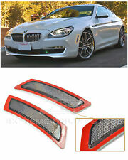 For 12-Up BMW F12 F13 6-Series | SMOKE Front Bumper Reflector Side Marker Lights