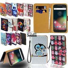 Flip Leather Card Wallet Stand Cover Phone Case For Motorola Moto E E3 E4 E5 E6