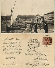 Trieste, riva Nazario Sauro, bella animata ottimo stato 1924