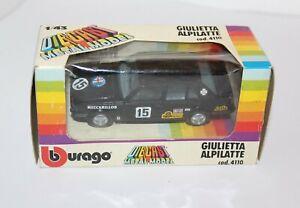 Burago Alfa Romeo 1:43 Giulietta Alpilatte 1/43 Metal Model Italy Cod. 4110