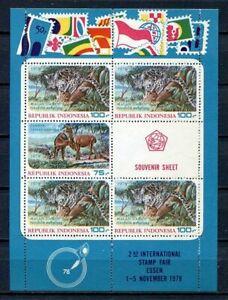 38359) INDONESIA 1977 MNH** Animals s/s