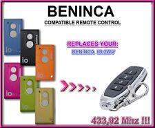 Beninca IO.2WV compatible mando a destancia 433,92MHz rolling code