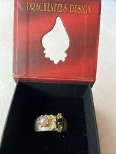 Baby Frosch Ring mit Perle Drachenfels D GFR Giftpfeil Froschkönig NP 328€