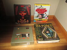 VINTAGE LOT PC GAMES DIABLO ll 2 (PC 2000)+BEYOND TIME+ARMORED FIRST+MONTY LOT 1