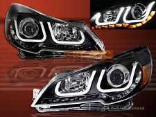 10-14 Subaru Outback / Legacy i8 Style U LED Black Projector Headlights 11 12 13