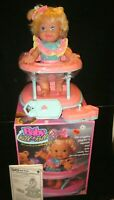"Mattel ""Baby Walk N' Roll"" Radio Controlled Walker Remotes Box Complete Works!"