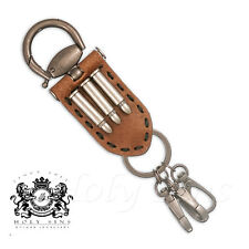 DIESEL STYLISH BULLET KEYRING - LEATHER & METAL BELT LOOP KEY CHAIN