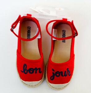 Gymboree Girl's BON Jour Red Mary Jane Shoes Size 7 NWT