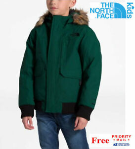 THE NORTH FACE BOYS GOTHAM JACKET GREEN Size 10-12