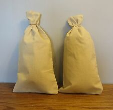 "2 CANVAS COIN BAGS  MONEY CHANGE SACK BAG  9"" BY 17.5""   BANK DEPOSIT TRANSIT"