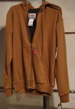 DICKIES Mens TW382 Thermal Lined Fleece Hoodie DUCK BROWN  4XL NWT
