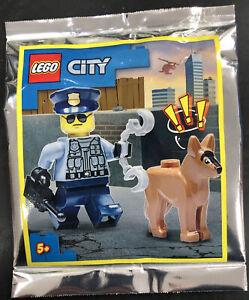 Lego City Police Officer & Police Dog Mini Figures. Brand New.